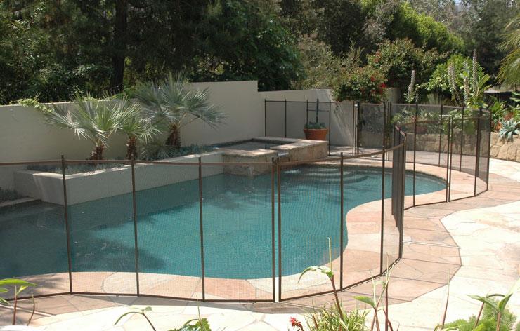 brown pool fencing