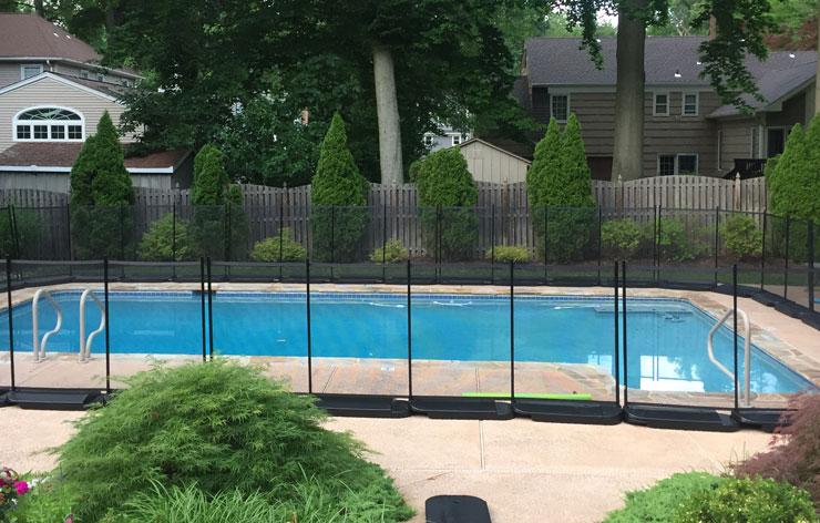 no holes pool fencing