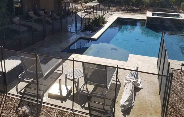 Pool Fencing from above